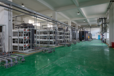 The membrane treatment facility at WELLE's leachate processing plant north of Shenyang.