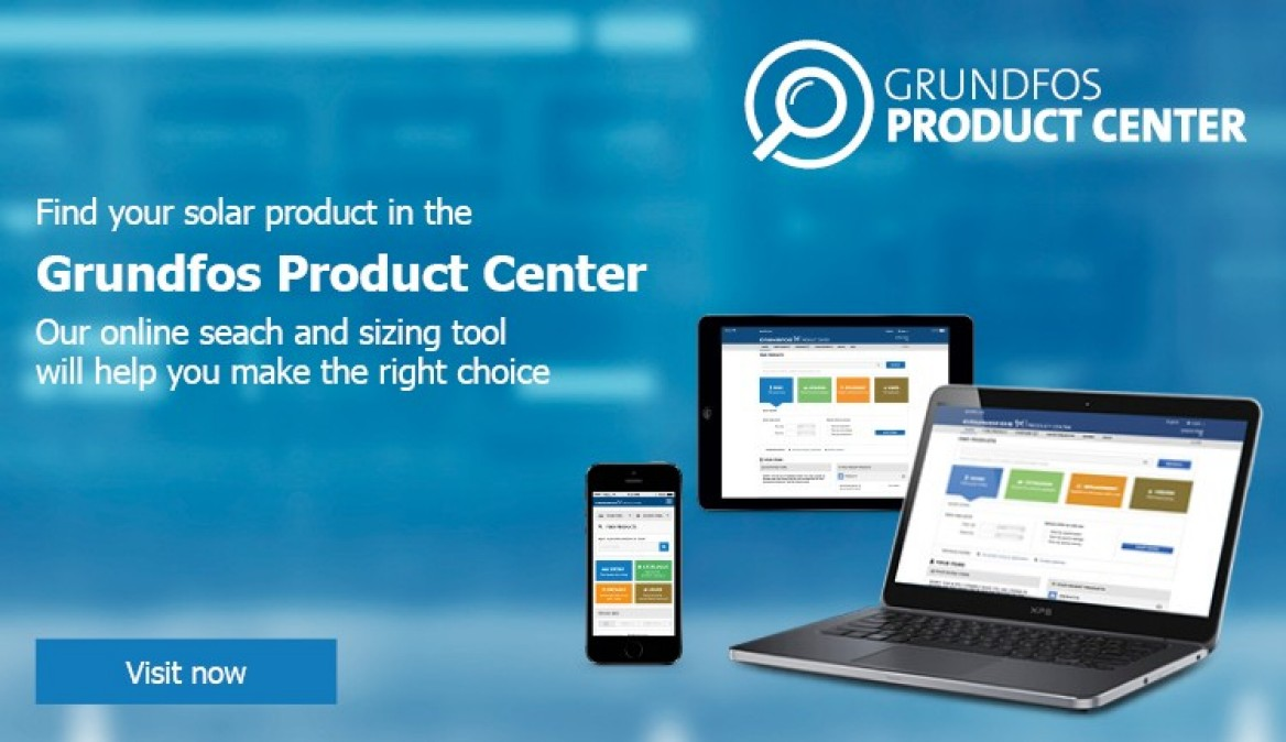 Go to Grundfos Product Center